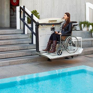 wheelchair platform stair lift Vimec